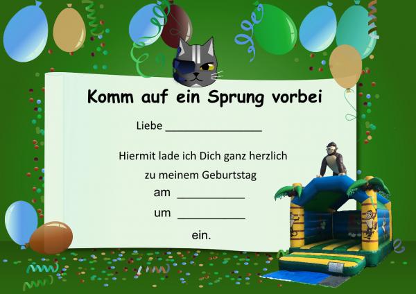 Einladungskarte Gorilla