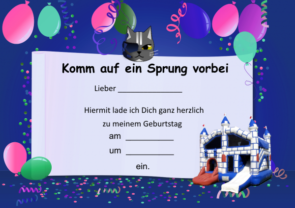 Einladungskarte Ritterburg